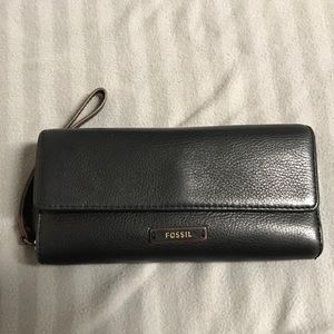 Fossil Wallet with Wristlet Strap